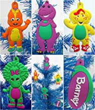 Barney Christmas Ornaments Featuring 4 Barney Ornaments with Barney, Bj, Baby Bop and Riff, Ornaments Average 2 1/4 to 3 Inches Tall, Great for a Mini Christmas Tree