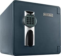 First Alert 2092DF-BD 1.3 Cubic Feet Bolt-Down Waterproof 1 Hour Fire Safe with Combination Lock, Gray