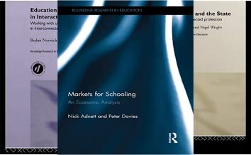 Routledge Research in Education (50 Book Series)