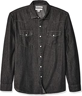 black denim shirt men