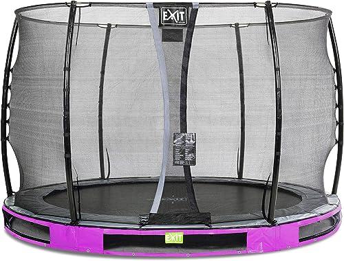 EXIT Elegant Premium InGründ-Trampolin  cm mit Economy Sicherheitsnetz - lila