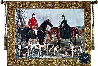Beautiful Fox Hunting Scenes I Fine Tapestry Jacquard Woven Wall Hanging Art Decor