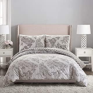 Vera Bradley Paisley Night Comforter Set, Full Queen, Gray