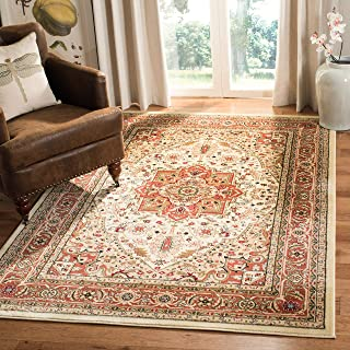 Safavieh Lyndhurst Collection LNH330R Traditional Oriental Medallion Ivory and Rust Area Rug (3'3