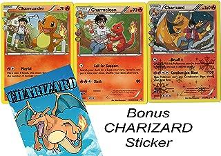 POKEMON -EVOLUTION SET - CHARIZARD / CHARMELEON / CHARMANDER GENERATION RC5/RC32 - HOLO RARE CARD LOT
