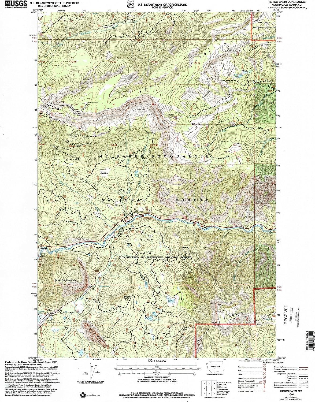 Tieton Basin WA topo map, 1 24000 Scale, 7.5 X 7.5 Minute, Historical, 2000, Updated 2001, 26.9 x 22.1 in