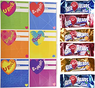 HAPPY VALENTINES DAY AIRHEADS -28 MINI BARS AND CARDS 11.26 OZ