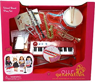Our Generation - SCHOOL BAND PLAYSET INSTRUMENTS - Functional Keyboard, Comes with 15 Fun Music Accessories!