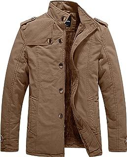 Men's Winter Fleece Lined Jacket Cotton Outwear Coat