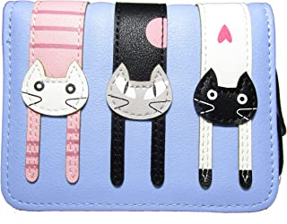 Nawoshow Women Cute Cat Wallet Coin Purse Bifold Wallet Clutch Bag