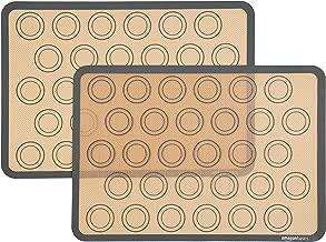 AmazonBasics Silicone Macaron Baking Mat Sheet, Set of 2