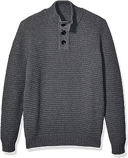 Men's 3D Textured Mock-Neck Sweater