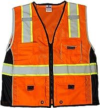 ML Kishigo 1514 Ultra-Cool Polyester Black Series Heavy Duty Vest, 4X-Large, Orange