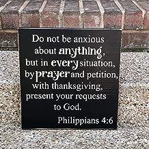 rfy9u7 Do Not Be Afraid ~Do Not Be Anxious Philippians 4:6 Custom Wood Sign ~Scripture Wall Art ~Phillipians~Scripture Signs~Verse Sign~Wooden Sign