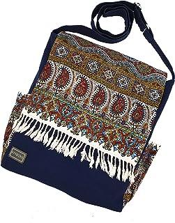 AFROZAN Bolso bandolera multicolor de tela - Accesorios elegantes de mujer - Talla ancha 38 x 30 x 10