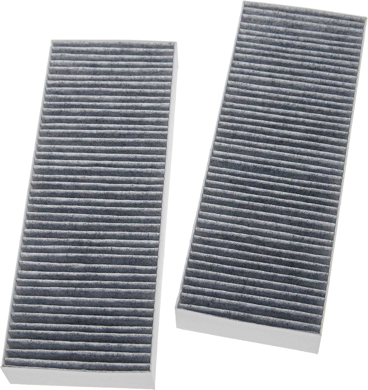 vhbw 2x filtro de carbón activado reemplaza Bora BAKFS, BAKFS-002 para extractor de cocina -34 x 12,2 x 4,25cm
