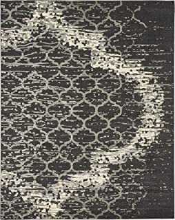 Modern Contemporary Abstract Area Rugs Charcoal Gray 8' x 10' Trellis Rug