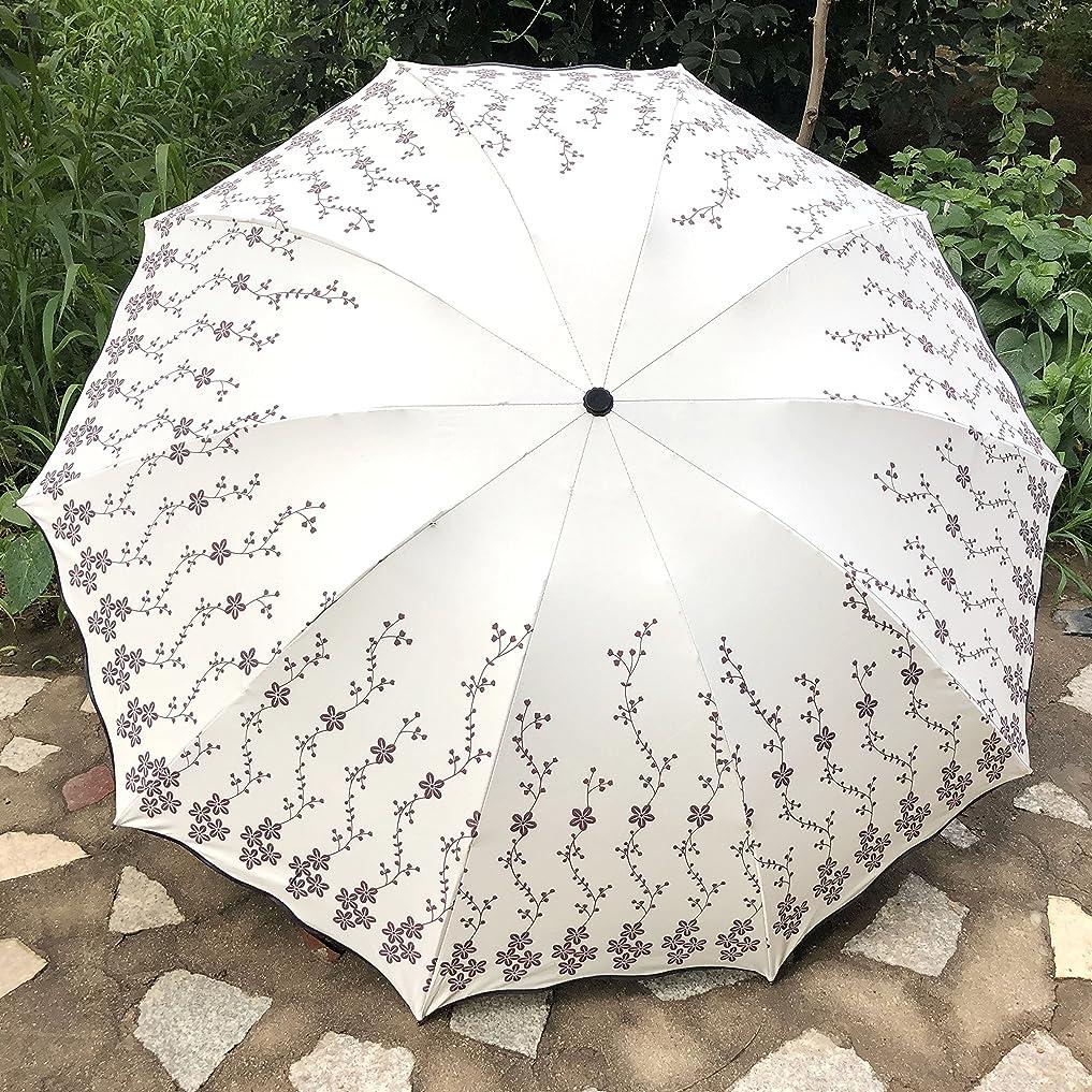 スローガンダム適性綺羅星 折り畳み傘 日傘 遮光 UV三つ折 晴雨兼用 紫外線 傘 遮光 花柄