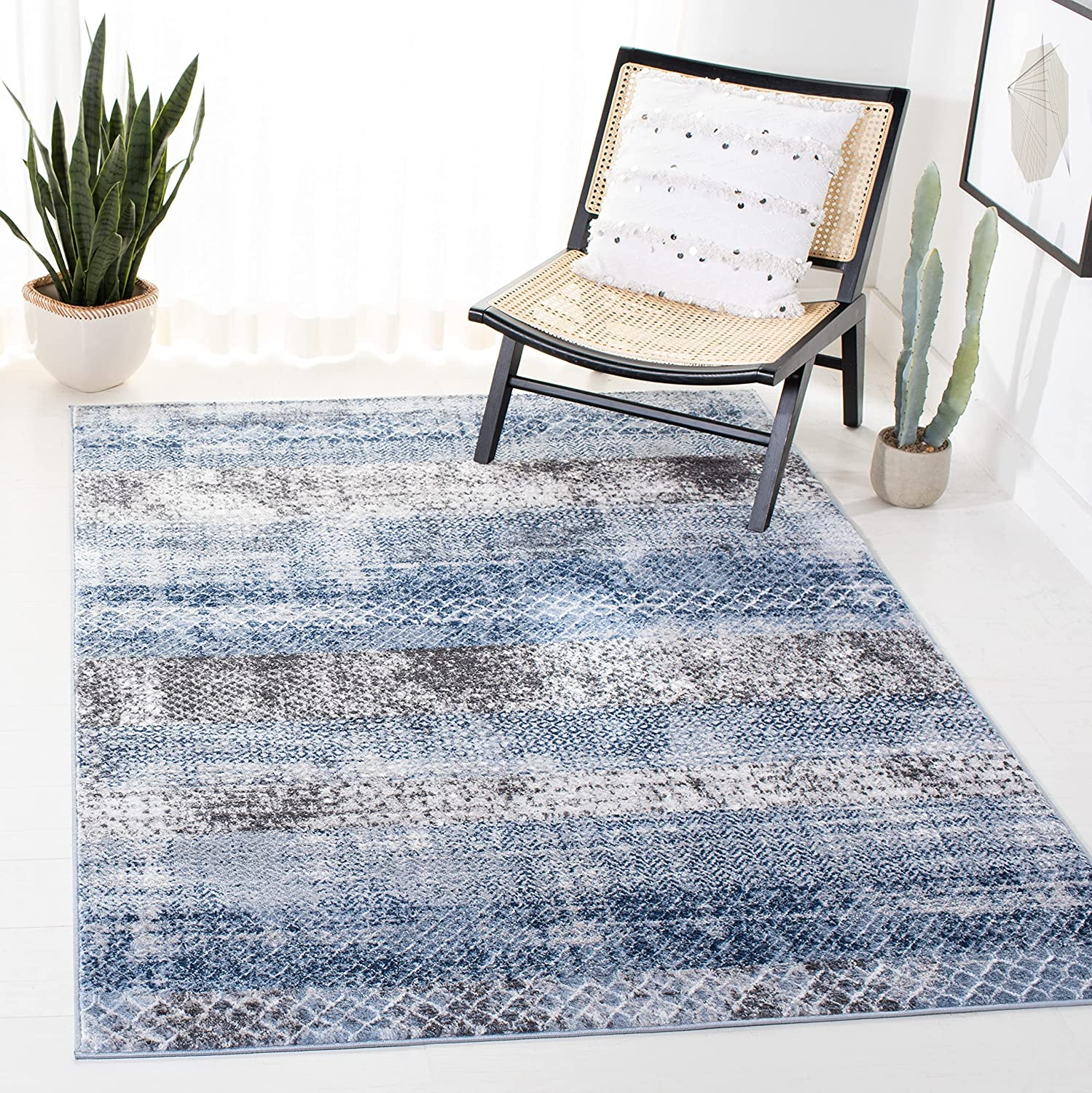Safavieh Amelia Collection ALA761N Abstract Directly managed store Modern Super-cheap Distressed No