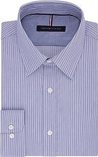 Men's Dress Shirt Slim Fit Non Iron Banker Stripe