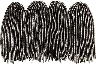 Faux Locs Crochet Hair 100% Kanekalon Fiber Straight Natural Dread Locs Style Braiding Hair Soft Feel Natural Look QCO Approved Hair Extension 14 Inches 4 Pack Bundle Deal (4 Brown)