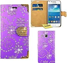 Samsung Galaxy Core Plus Case, FoneExpert Bling Luxury Diamond Leather Wallet Book Bag Case Cover For Samsung Galaxy Core Plus G350 G3502 G3500