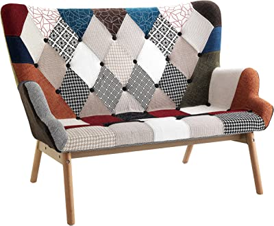 Wink Design Kaleidos-G A Due posti, Tessuto,, 132x80x96 cm, multicolore