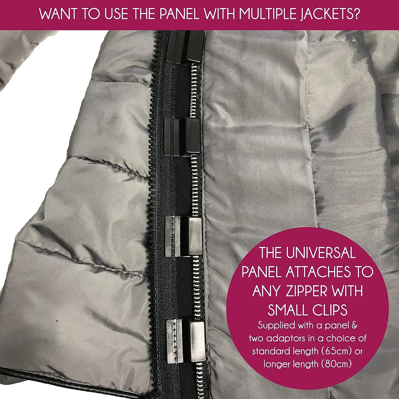 Jackenerweiterung - Verwandeln Sie ihre eigene Jacke oder Mantel in eine Mutterschafts oder Babyjacke 78cm Doppelter Spirale Ykk 5cnt (mit Zwei Schieber)