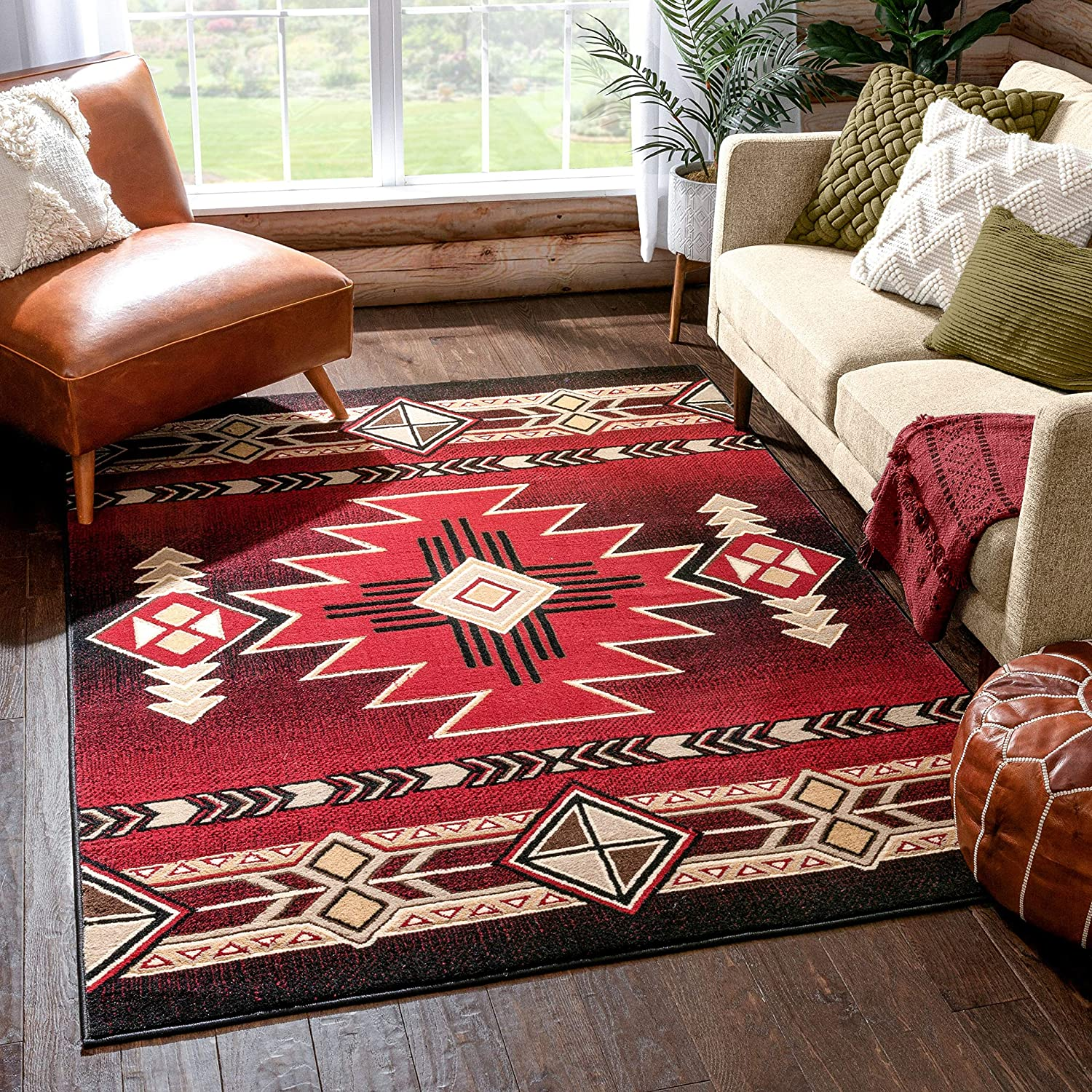 Well Woven Wilton free Red Oriental Medallion Rug 3'11