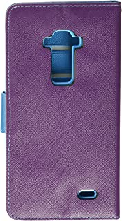 Reiko 3-In-1 Wallet Case for LG G Flex - Retail Packaging - Purple