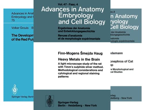 Advances in Anatomy, Embryology and Cell Biology (101-150) (50 Book Series)