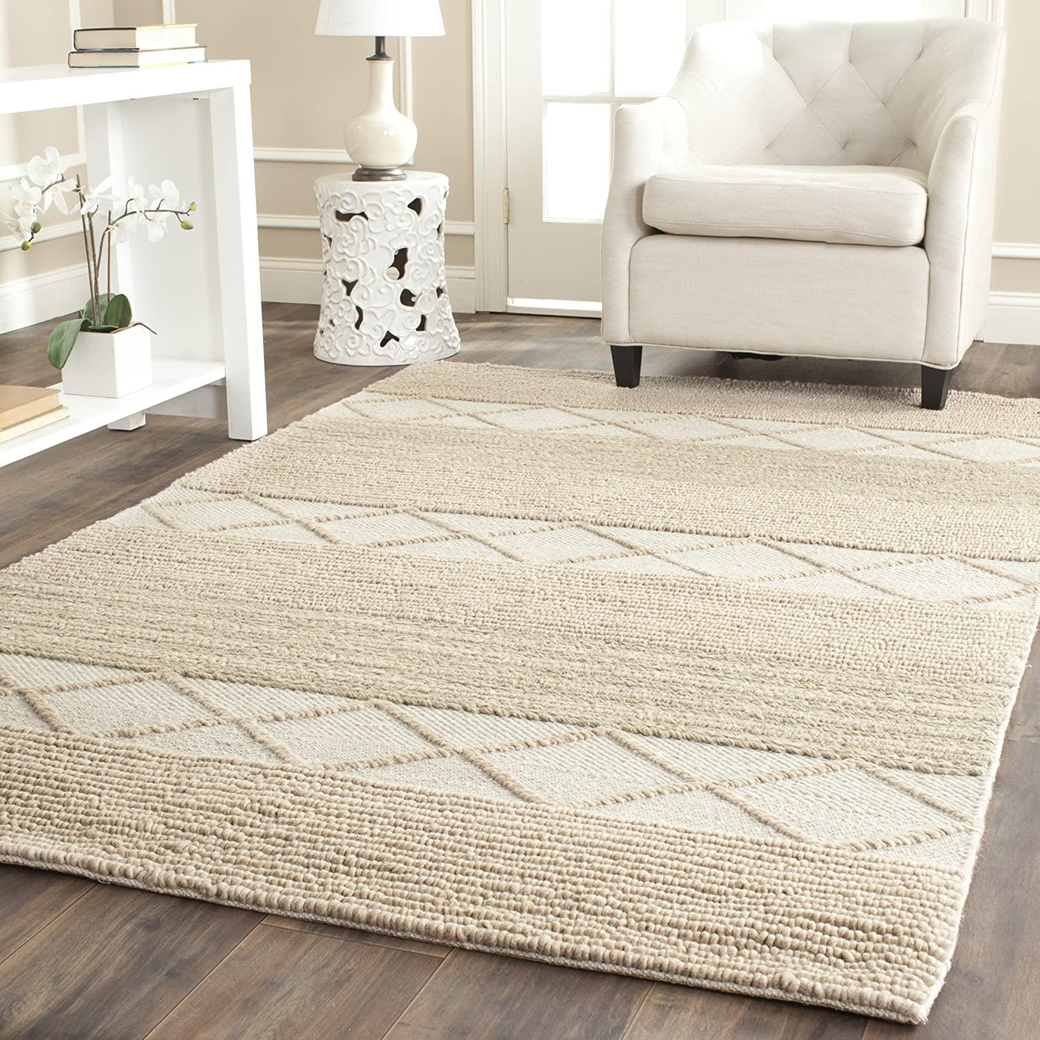 Super special price Safavieh Natura Collection NAT217A Handmade 2021 spring and summer new x Wool Rug Area 6'