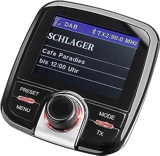 Dual DAB CA 10 KFZ Adapter (automatischer Sendersuchlauffunktion, Bluetooth und AUX In Anschluss, Farbdisplay) schwarz