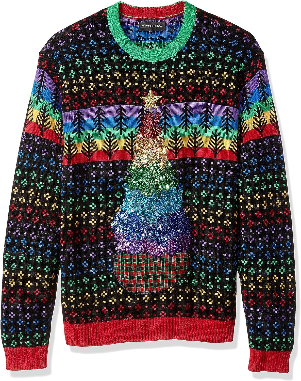 Blizzard Bay Men's Ugly Sweater Christmas Trees-Hanukkah Colorado Springs Mall Ranking TOP18