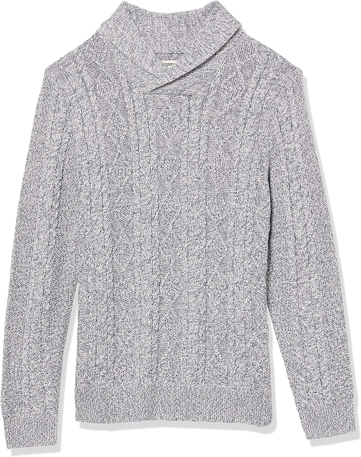 Amazon Brand - Goodthreads Men's Supersoft Shawl Collar Cable Knit Pullover Sweater