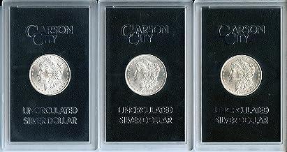 Three Carson City Morgan Dollars BU Original Government Packaging