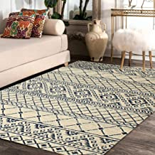 "Rugsville Emmy Geometric Ivory Modern Carpet 5'3"" x 7'9"""