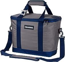 CleverMade SnapBasket 30 latas enfriador plegable de cara suave, 20 litros con correa para el hombro, gris/azul marino