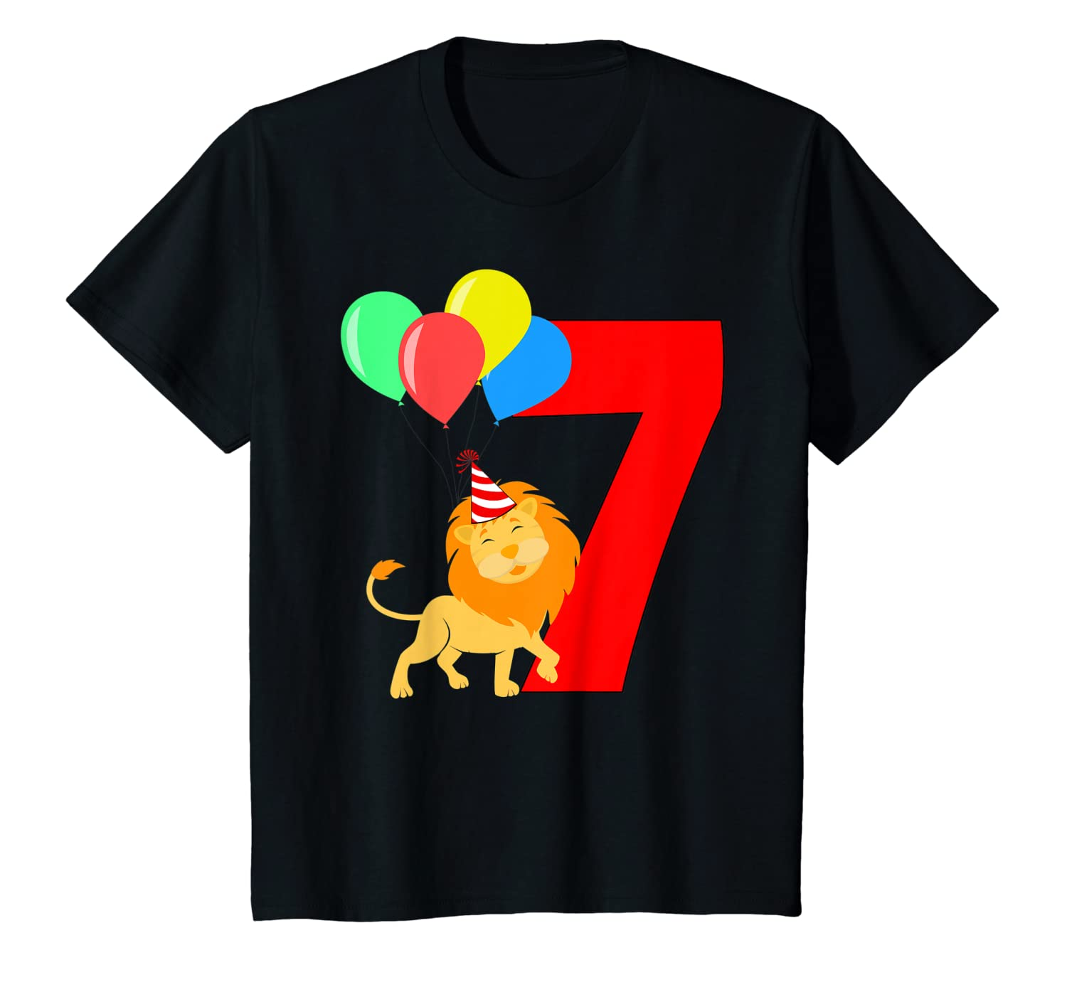 7 Year Old Lion Birthday Party King Gift Girls Shirts