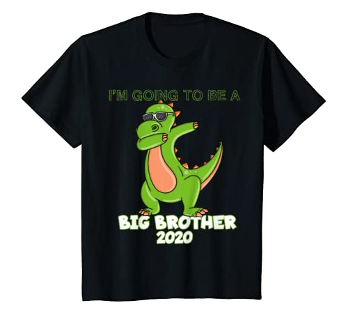 Kids Im Going To Be A Big Brother 2020 Shirt Dabbing Dinosaur T Shirt