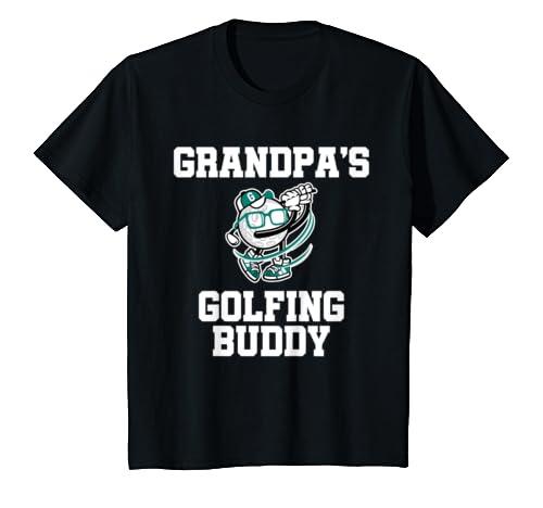 Kids Grandpa's Golfing Buddy Golf Buddy T Shirt
