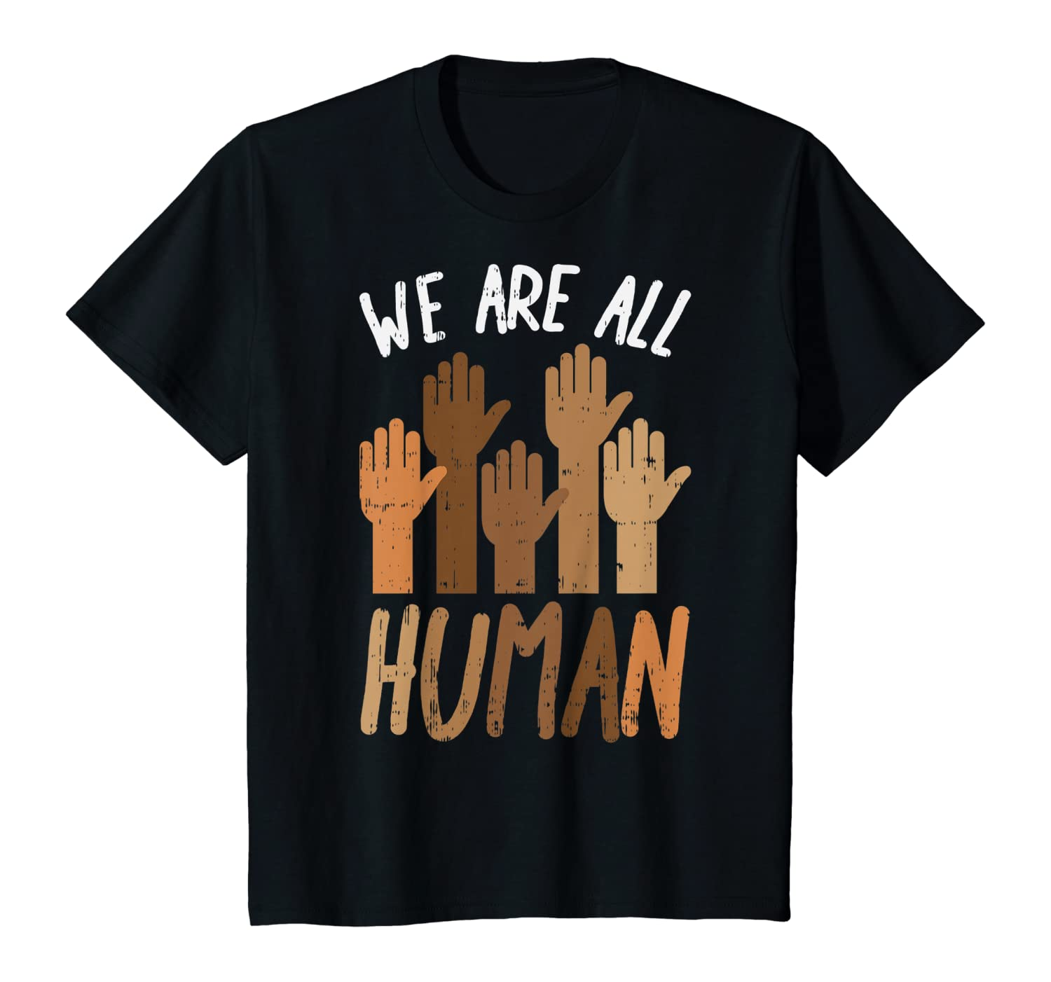 We Are All Human Melanin Black Pride African American Gift T-Shirt