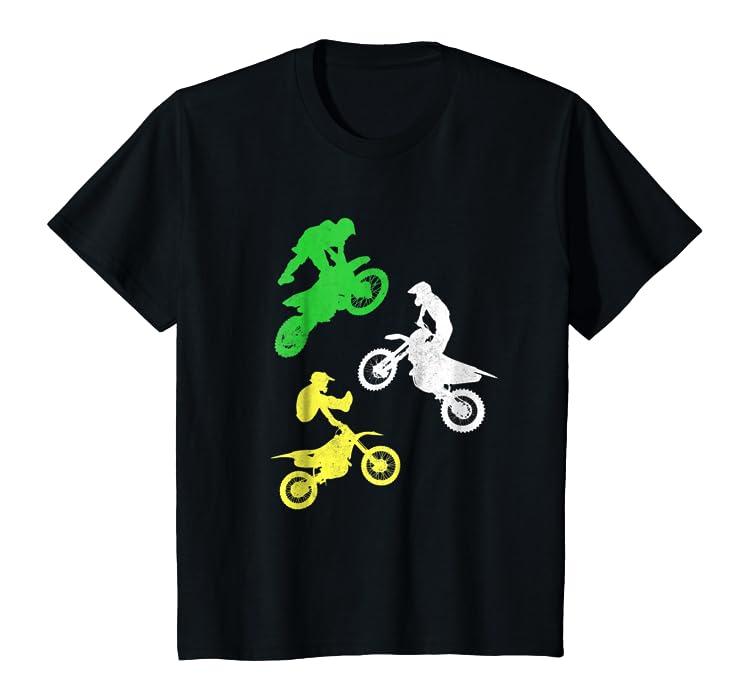 3332fbd8e Amazon.com  Kids Dirt Bike Shirt for Boys   Toddler Gift Motocross Tshirt   Clothing