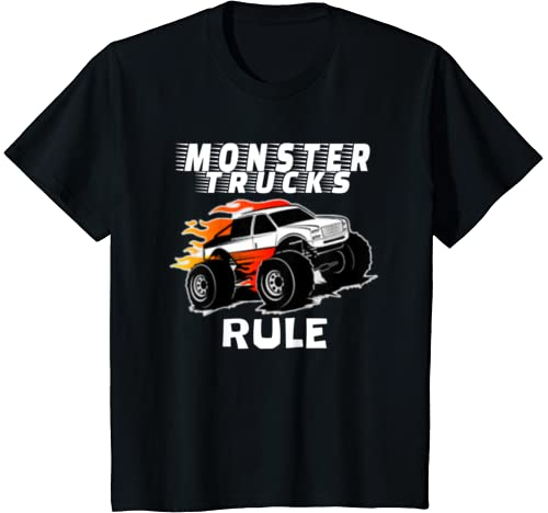 "Kids The # 1 Best ""Monster Trucks Rule"" T Shirts On The Planet. T Shirt"
