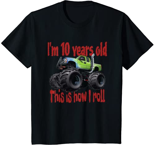 "Kids The Best Kids ""Monster Trucks Rule"" T Shirts On The Planet. T Shirt"