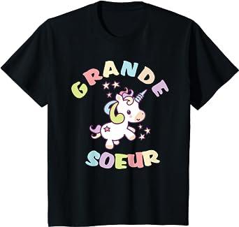 Enfant Grande soeur - idée de cadeau licorne frères et soeurs T-Shirt
