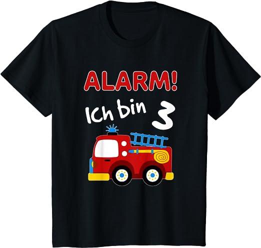 Geburtstag Shirt 3 Jahre alt Krankenwagen Langarmshirt Kinder EMS Auto 3