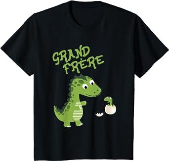 Enfant Grand frère 2021 Dino Cadeau de garçon T-Shirt