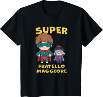 Bambino SUPEREROE FRATELLO MAGGIORE 2021 FIGLIO FRATELLO E SORELLA Maglietta