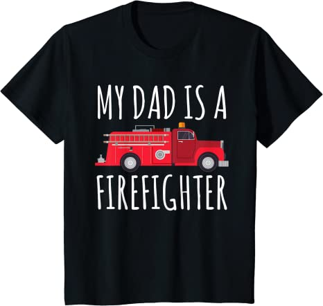 Dad T-Shirt Firefighters Fire Fighter Born To Fight Rescue Squad Dept A657
